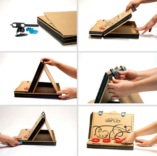 20 Cool Things You Can Make With A Pizza Box Bored Panda