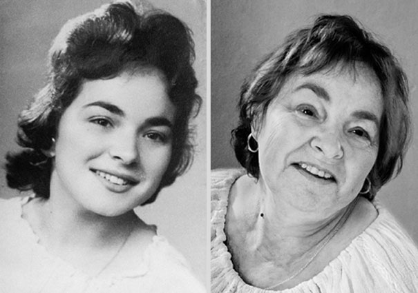 Before and After Portraits Reveal the Effects of Time and Aging