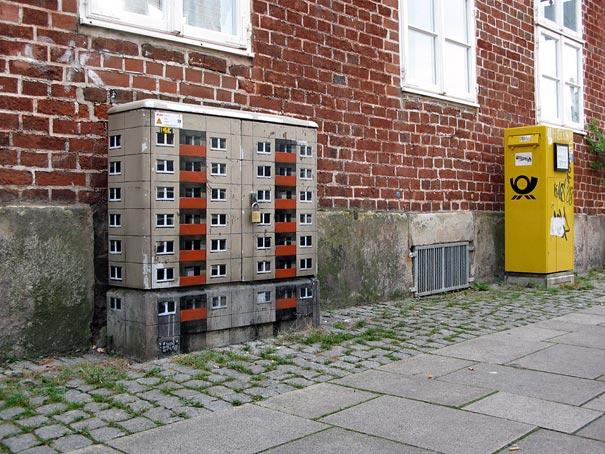 Miniature Buildings: Street Art by EVOL