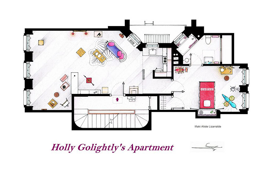 Artist Draws Detailed Floor Plans of Famous TV Shows – Floor Plans Of Tv Homes