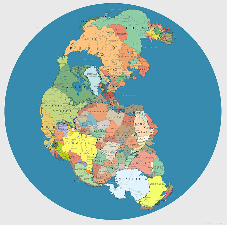 40 maps they didnt teach you in school bored panda political world map as pangea 200 300 million years ago gumiabroncs Image collections