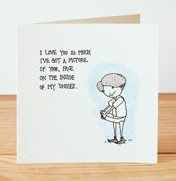 creepily cute valentines day cards bored panda