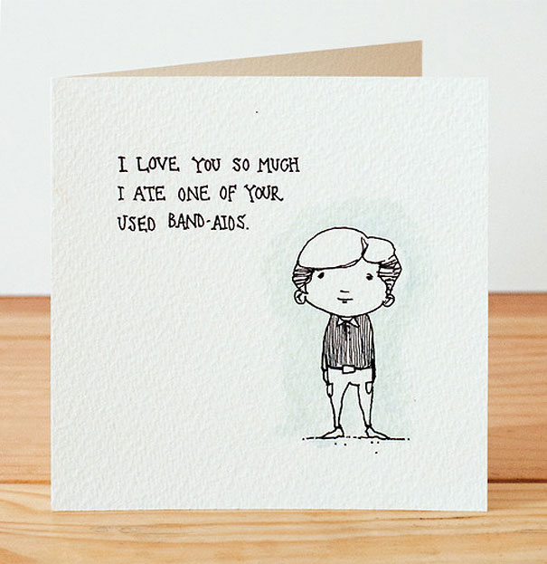 Creepily Cute Valentines Day Cards – Stalker Valentine Card