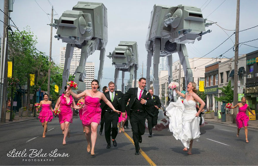 Imperial AT Walkers Attack