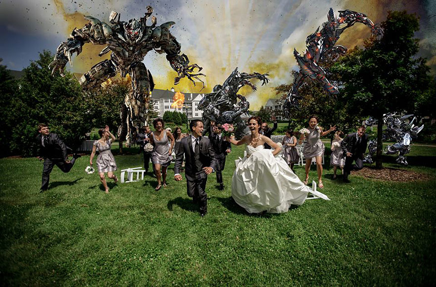 Newest Trend Crazy Wedding Party Attack Pictures
