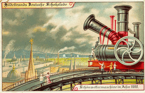 Future-Predicting Postcards From Around 1900