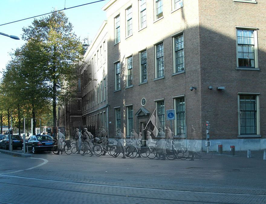 Ghosts of War: WWII Photos Superimposed on to Modern Street