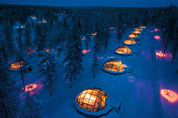 Glass Igloo Hotel in Finland