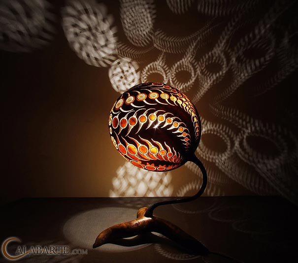 Gourd Lamps exotic gourd lampscalabarte | bored panda