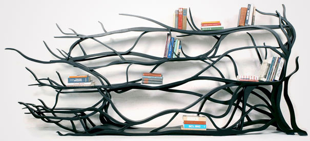 Handmade Shelf Inspired By Ivy. (Designer: Sebastian Errazuriz)