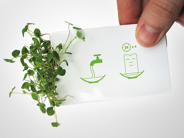 26 green design ideas inspired by nature bored panda bloomin designers business card reheart Image collections