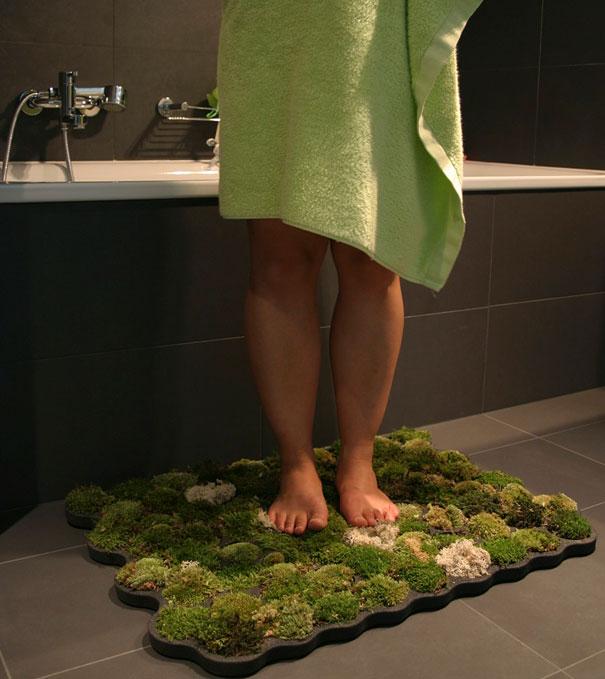 2. Living Moss Bath Mat