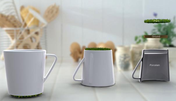 cup with a grassy bottom designer jinsik kim