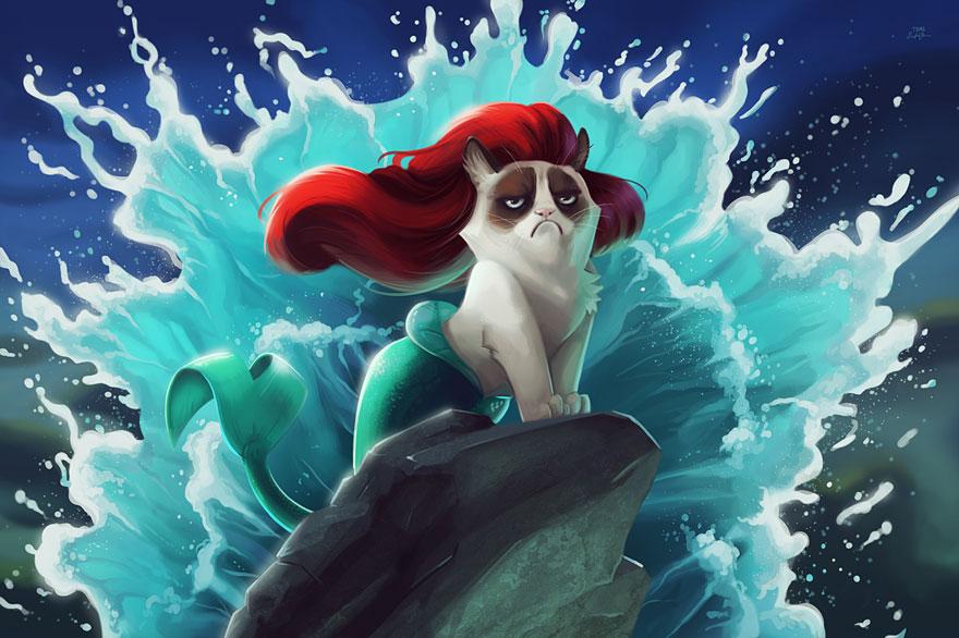 Grumpy Cat Meets Disney, Hates It