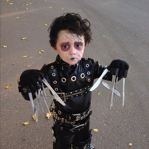 9. Edward Scissorhands  sc 1 st  Bored Panda & 26 Of The Best Kidsu0027 Halloween Costumes Ever | Bored Panda
