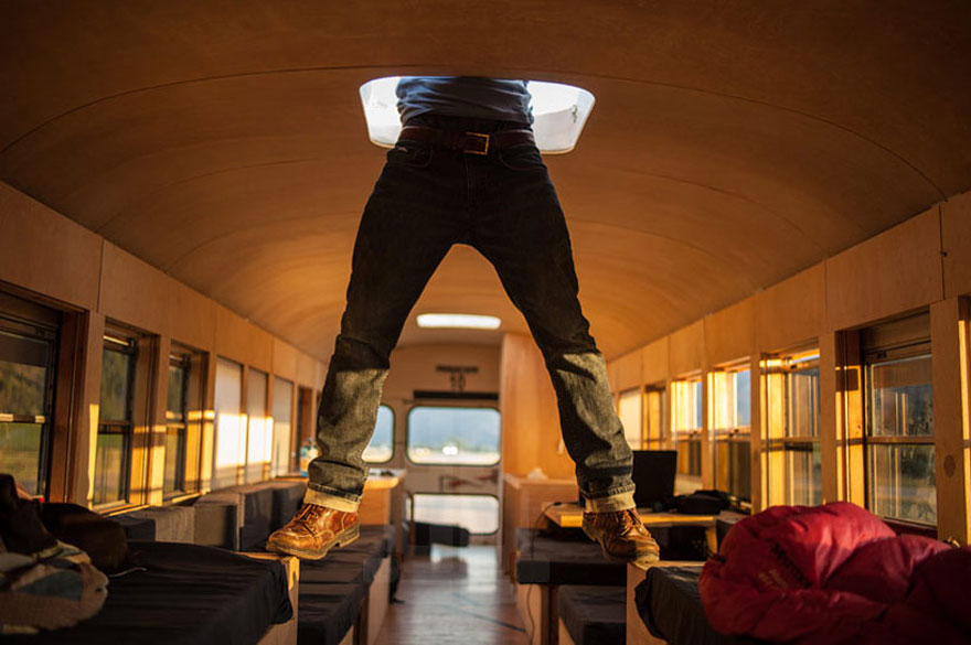Architecture Student Bought A School Bus And Turned It