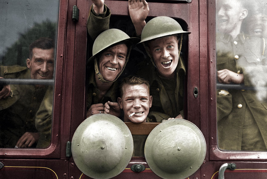 16 british troops cheerfully board their train for the first stage of their trip to the western front england september 20 1939