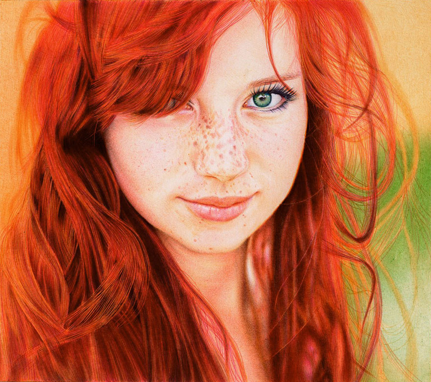 Photorealistic Ballpoint Pen Drawings by 29-Year-Old Lawyer ...
