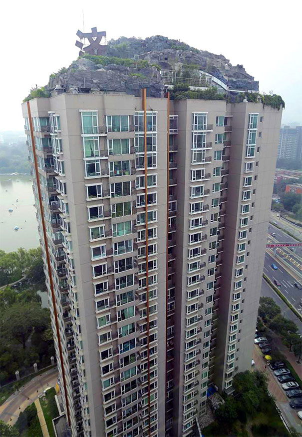 Professor Builds Illegal Mountain Villa Atop 26-Story Building in Beijing