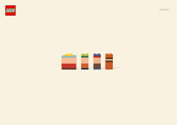 Imagine: Minimalist Lego Cartoon Characters
