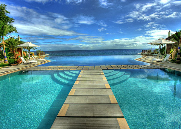 Infinity Pool in Acuatico Beach Resort, Philippines