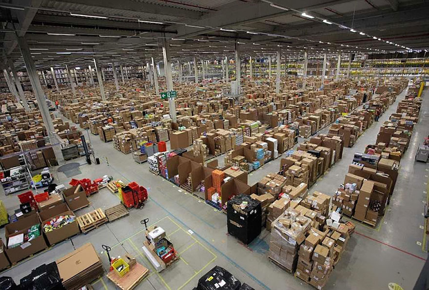 An Inside Look at 'Chaotic' Amazon Warehouses