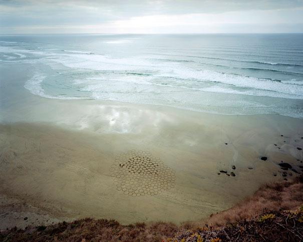 Amazing Sand Drawings on California Beaches