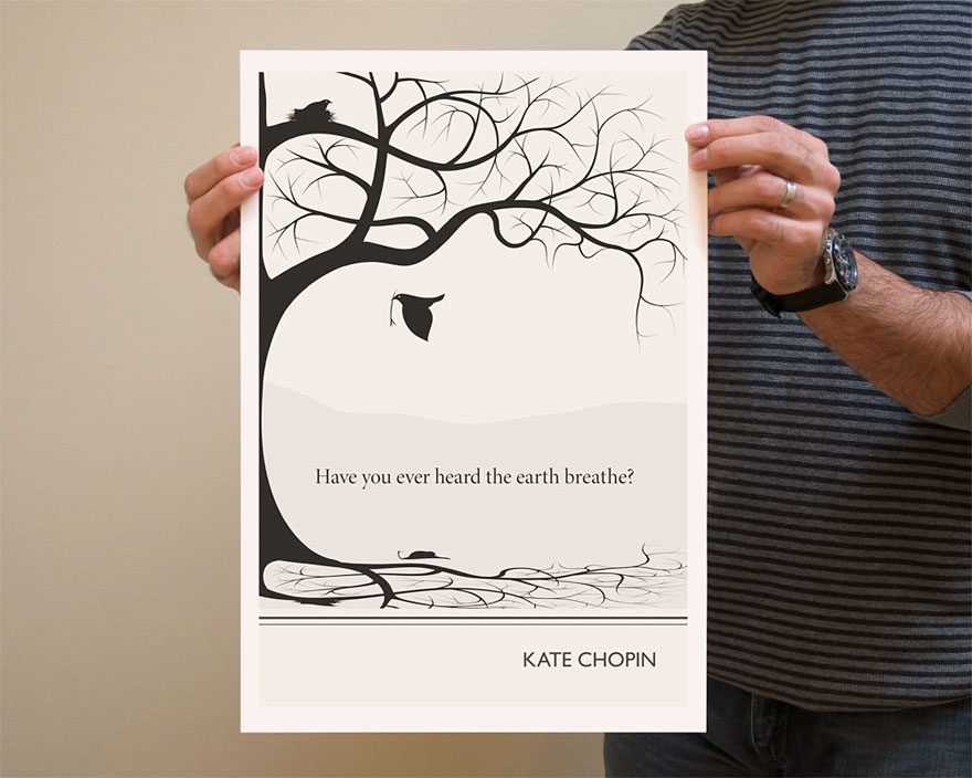 clever literature inspired quote posters by evan robertson