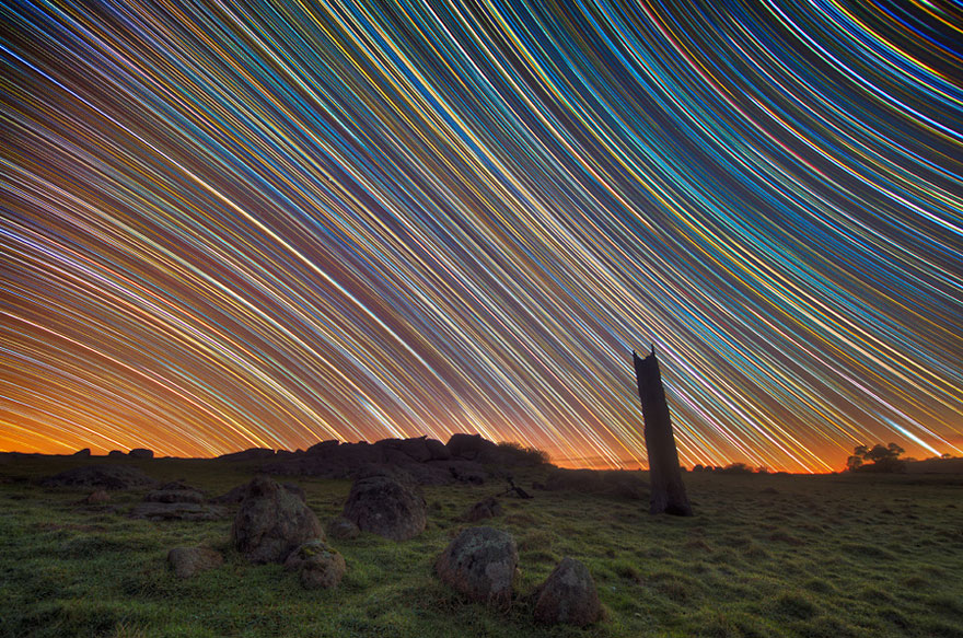 how to take long exposure stars