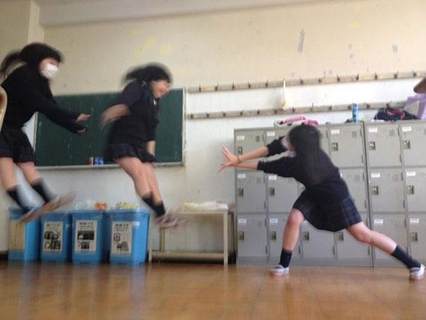 new craze in japan japanese schoolgirls doing dbz energy