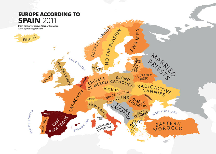 31 Maps Mocking National Stereotypes Around the World ... Stereotypes Map Of Every Country on world map by country, map of iran, map of saudi arabia, map of city, map of middle east countries, map of guatemala, map of united kingdom, map of romania, map of europe today, map of philippines, map of austria, map of countries with the globe, map of nigeria, map of china, map of countries with dictators, map of indonesia, map of yemen, map of pakistan, map with countries of the earth,