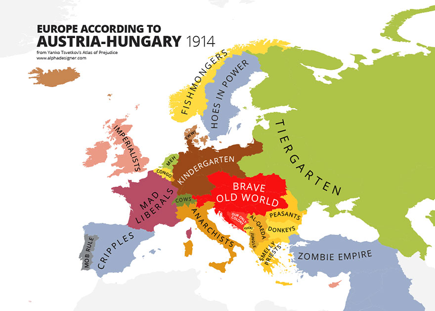 31 maps mocking national stereotypes around the world bored panda gumiabroncs Choice Image