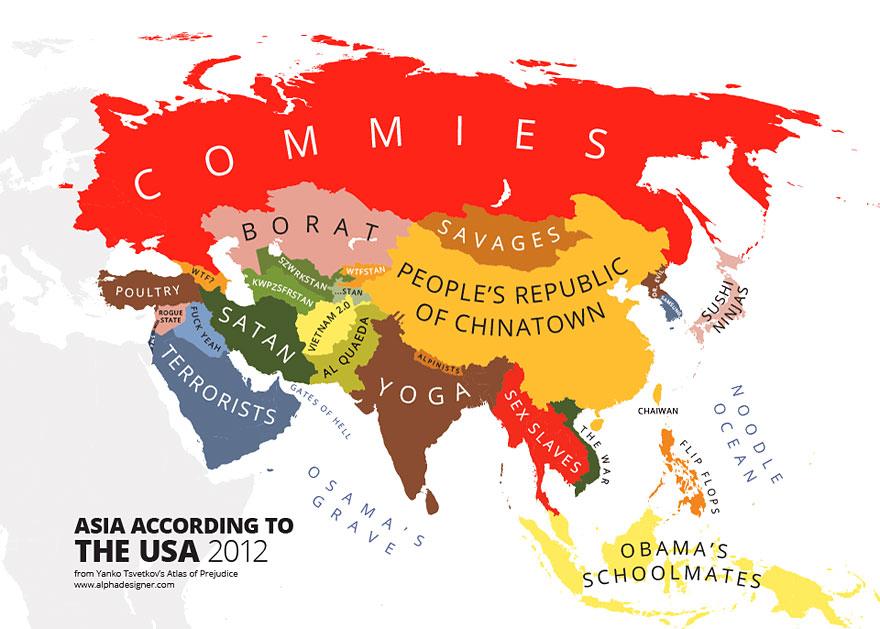 Maps Mocking Stereotypes Around The World Jokes Etc Nigeria