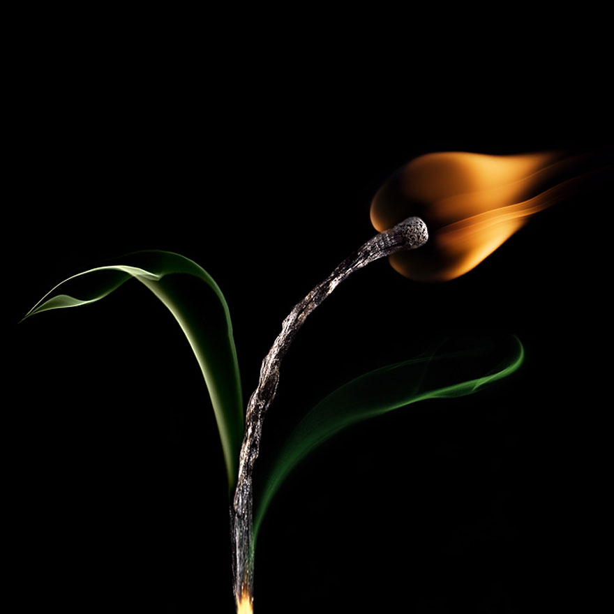 Burnt Matchstick Art by Stanislav Aristov