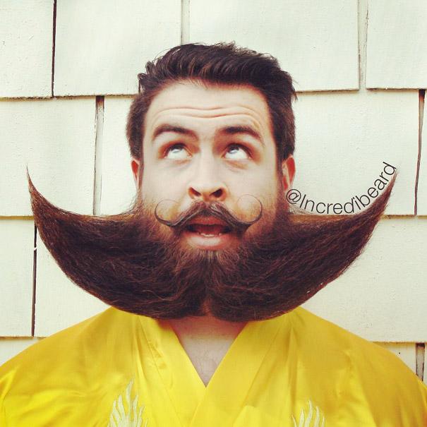 incredibeard guy with a thousand beards becomes internet celebrity
