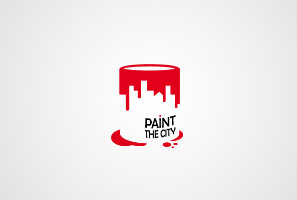 30 clever examples of negative space logos bored panda for Painting and decorating logo ideas
