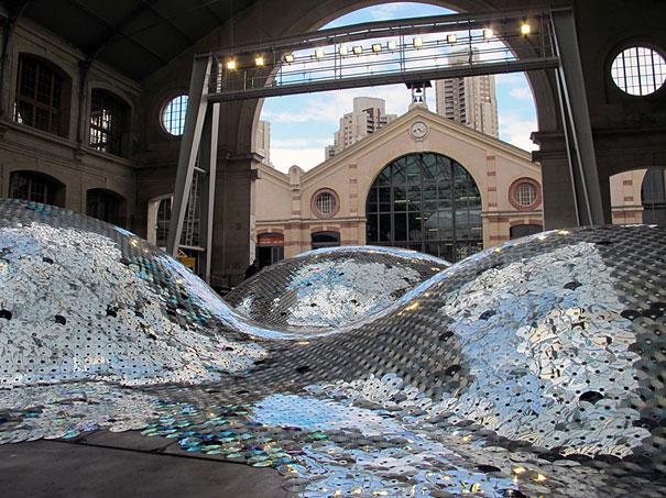 Wastelandscape Made of 65,000 Old CDs