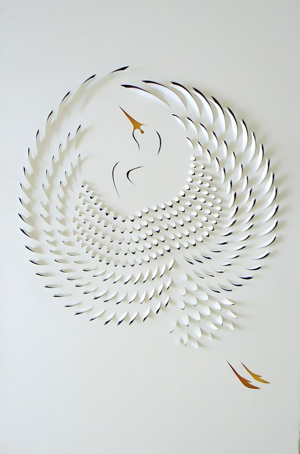 75 photos of amazing paper art bored panda for How to do 3d paper art