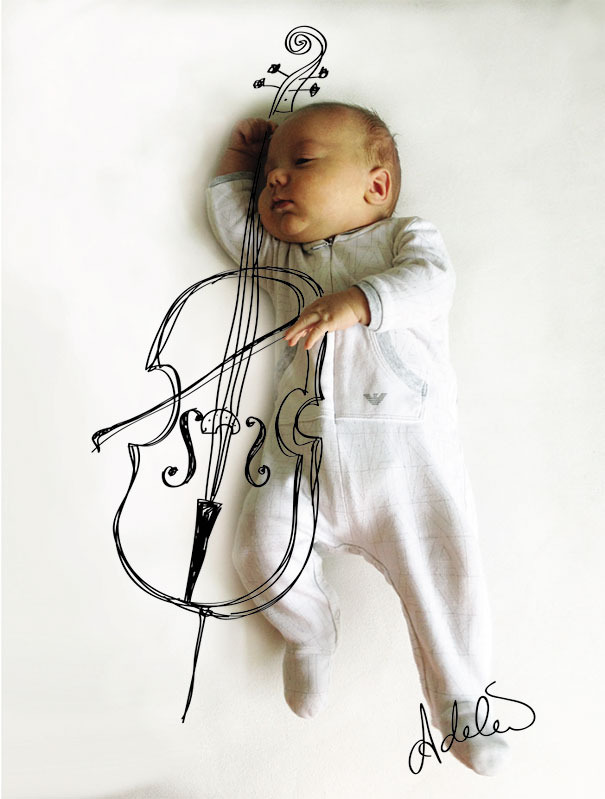 Mom Turns Her Baby's Napping Positions Into Art