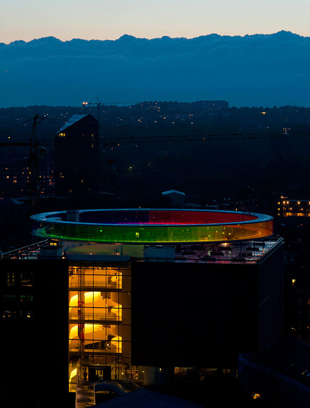 Your Rainbow Panorama: A Giant 360° Colorful Rooftop Walkway in Denmark