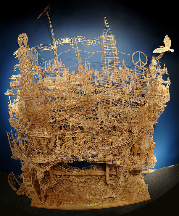 One man, 100,000 toothpicks, and 35 years: Amazing Kinetic Sculpture of San Francisco