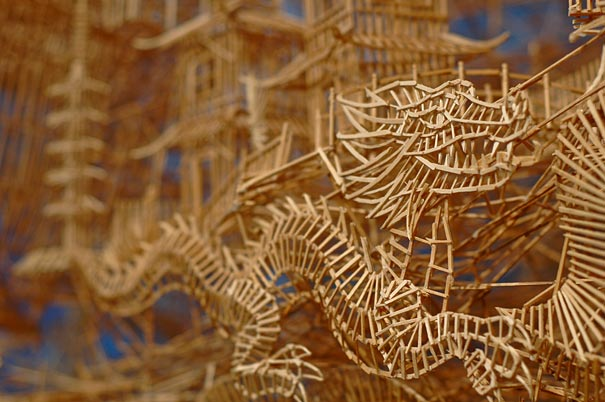 Toothpick Sculpture one man, 100,000 toothpicks, and 35 years: amazing kinetic