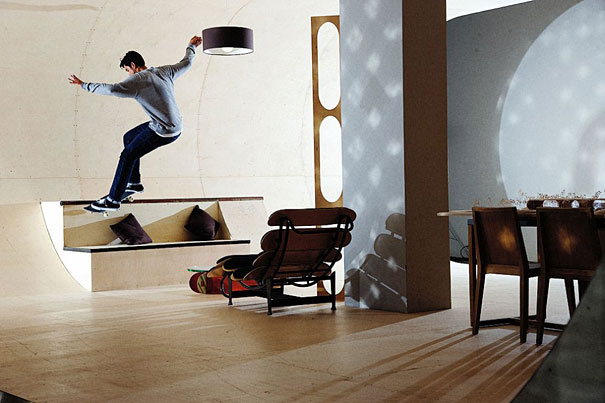 World's First Skateboard House