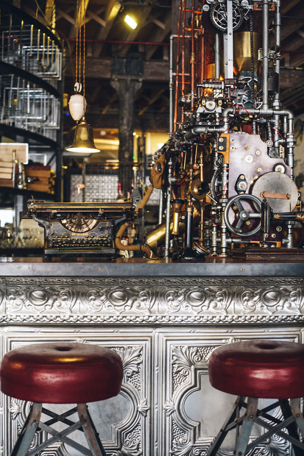 Steampunk Cafe Awesome Steampunk Interior Design At Truth Cafe In South Africa .
