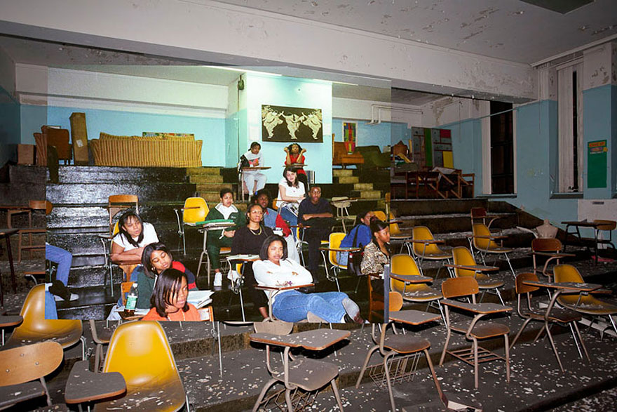 Then-and-Now Photos of Abandoned Detroit School