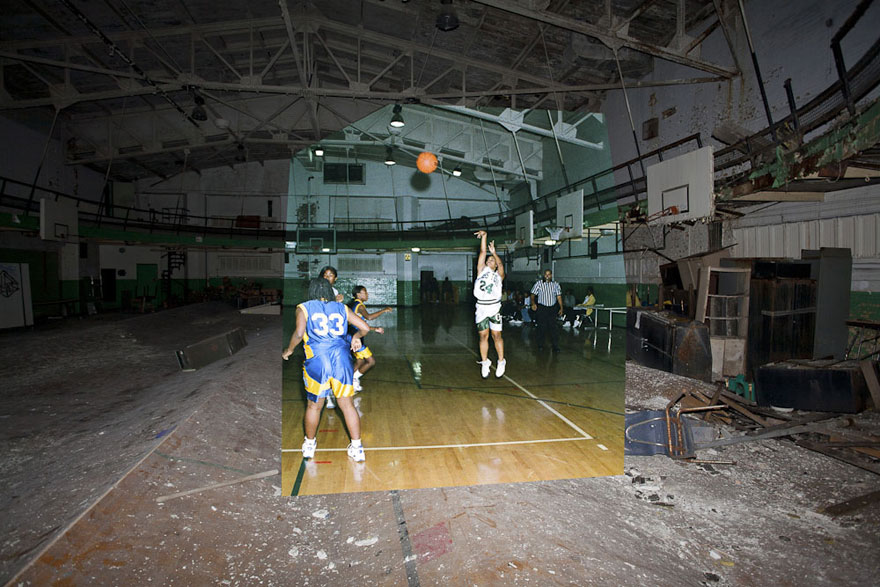 Then-and-Now Photos of Abandoned Detroit School | Bored Panda