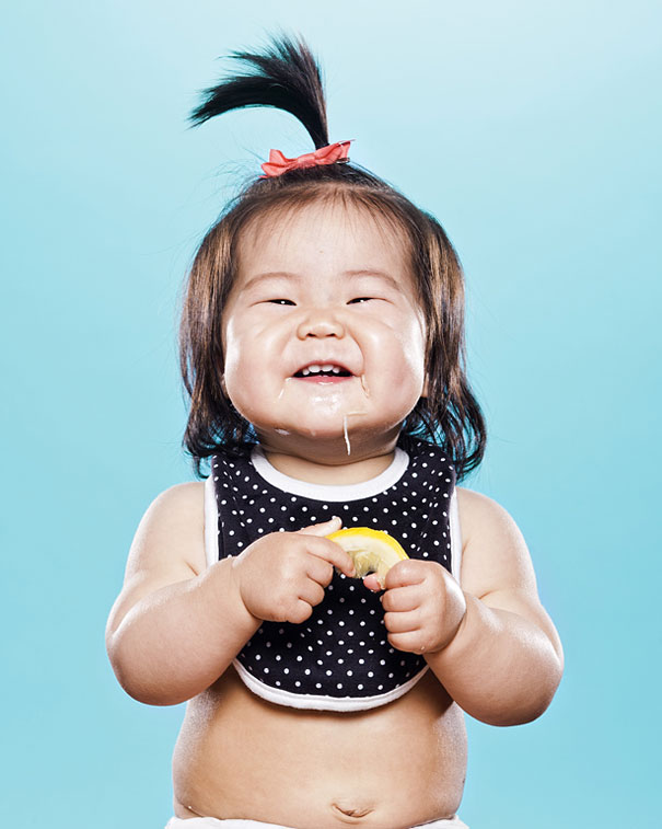 Photos of Toddlers Tasting Lemon For the First Time