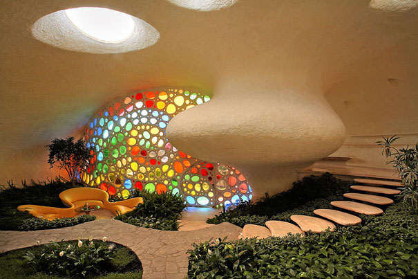 inspired by the work of gaudi and frank lloyd wright a young family with two kids in mexico city had a seashell shaped house built for them read more