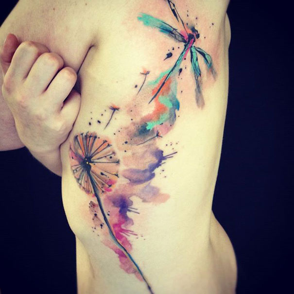 25 Examples Of Artistic Watercolor Tattoos | Bored Panda