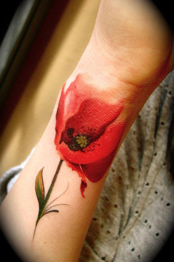 25 Examples Of Artistic Watercolor Tattoos | Bored Panda